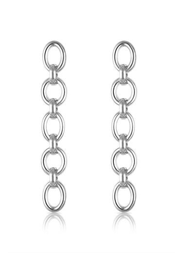 Alberto Guardiani Alberto Guardiani Ag20144Kup Zincir Jewelery Küpe Gümüş